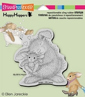 Stampendous Cling Mounted Rubber Stamp - House Mouse Happy Hopper Bunny Luv