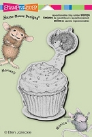 Stampendous Cling Mounted Rubber Stamp - House Mouse Cupcake Jump :-)