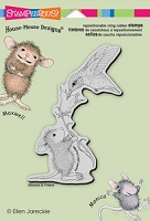 Stampendous Cling Mounted Rubber Stamp - House Mouse Hummingbird Feeder :)