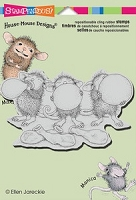 Stampendous Cling Mounted Rubber Stamp - House Mouse Balloon Trio