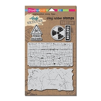 Stampendous Cling Mounted Rubber Stamps - Andy Skinner Toxic Stamp Set