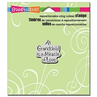 Stampendous Cling Mounted Rubber Stamps - Grandchild Love