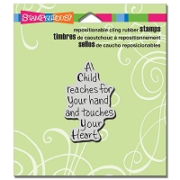 Stampendous Cling Mounted Rubber Stamps - Child Reaches