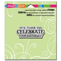Stampendous Cling Mounted Rubber Stamps - Celebrate Birthday