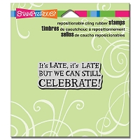 Stampendous Cling Mounted Rubber Stamps - Celebrate Late