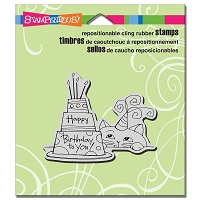 Stampendous Cling Mounted Rubber Stamps - Cat And Cake