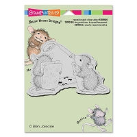 Stampendous Cling Mounted Rubber Stamps - House Mouse Designs - Card Shark