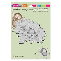 Stampendous Cling Mounted Rubber Stamps - House Mouse Designs - Sunflower Smile