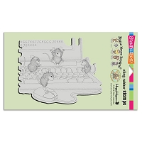 Stampendous Cling Mounted Rubber Stamps - House Mouse Designs - Computer Mice