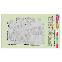 Stampendous Cling Mounted Rubber Stamps - House Mouse Designs - Piglet Pals