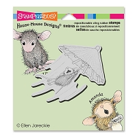 Stampendous Cling Mounted Rubber Stamps - House Mouse Designs - Umbrella Ride