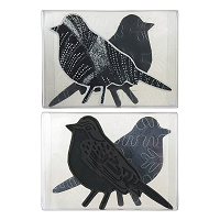 Stampendous - NK Studio Bird Foam Stamp, Cling Rubber and Stencil Set