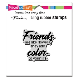 Stampendous Cling Mounted Rubber Stamps - Friends Add Color