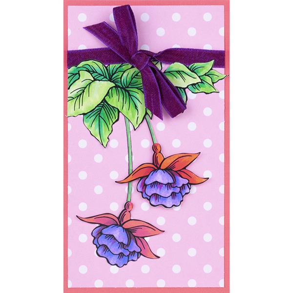 Fuchsia Trio Stampendous CRS5106 Cling Rubber Stamp