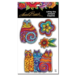 Stampendous - Laurel Burch - Feline Blooms Cutting Die Set