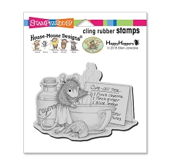 Stampendous Cling Mounted Rubber Stamps - House Mouse Designs - Cure All Tea Cling Rubber Stamp