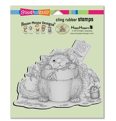 Stampendous Cling Mounted Rubber Stamps - House Mouse Designs - Catnip Snack Cling Rubber Stamp