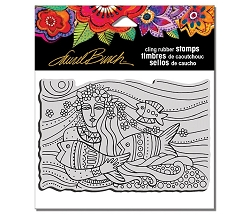 Stampendous - Laurel Burch - Mermaid Flow Cling Rubber Stamp