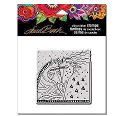 Stampendous - Laurel Burch - Horses Heart Cling Rubber Stamp