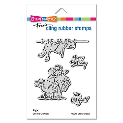 Stampendous - Cling Mounted Rubber Stamp Set - Old Goat
