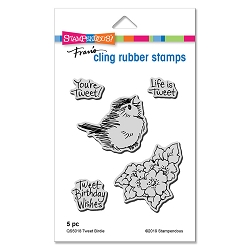 Stampendous - Cling Mounted Rubber Stamp Set - Tweet Birdie