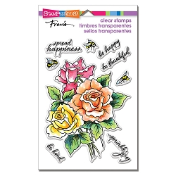 Stampendous Perfectly Clear Stamp - Roses Be Happy Perfectly Clear Stamps Set