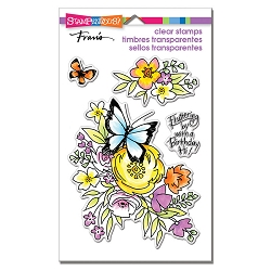 Stampendous Perfectly Clear Stamp - Flutters And Flowers Perfectly Clear Stamps Set