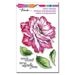 Stampendous Perfectly Clear Stamp - Rose Friend Perfectly Clear Stamps Set