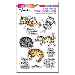 Stampendous Perfectly Clear Stamp - Kitty Therapy Perfectly Clear Stamps Set