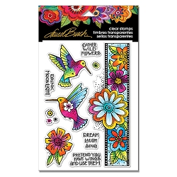 Stampendous - Laurel Burch - Hummingbird Wishes Perfectly Clear Stamps