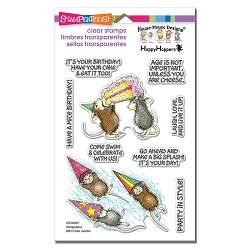 Stampendous Perfectly Clear Stamp - House-Mouse Birthday Splash Perfectly Clear Stamps Set