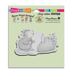 Stampendous Cling Mounted Rubber Stamps - House Mouse Designs - Strawberry Wish Rubber Stamp