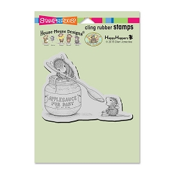 Stampendous Cling Mounted Rubber Stamps - House Mouse Designs - Feeding Baby Rubber Stamp