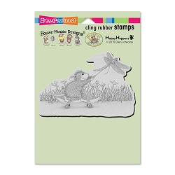 Stampendous Cling Mounted Rubber Stamps - House Mouse Designs - Dragonfly Skate Board Rubber Stamp