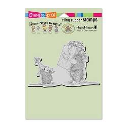 Stampendous Cling Mounted Rubber Stamps - House Mouse Designs - Birthday Gift Rubber Stamp