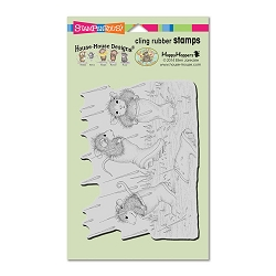 Stampendous Cling Mounted Rubber Stamps - House Mouse Designs - Puddle Jumpers Rubber Stamp