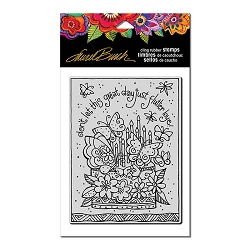 Stampendous - Laurel Burch - Cling Flutterbye Cake Rubber Stamp