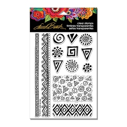 Stampendous - Laurel Burch - Icons Perfectly Clear Stamps