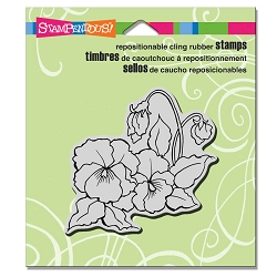 Stampendous Cling Mounted Rubber Stamps - Pansies
