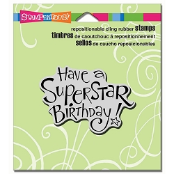 Stampendous Cling Mounted Rubber Stamps - Superstar Birthday