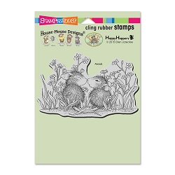 Stampendous Cling Mounted Rubber Stamps - House Mouse Designs - Garden Kiss