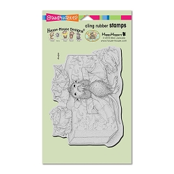 Stampendous Cling Mounted Rubber Stamps - House Mouse Designs - Tissue Box