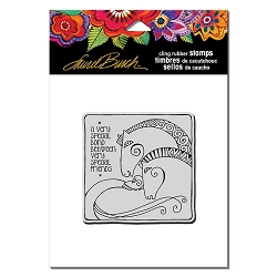 Stampendous - Laurel Burch - Cling Rubber Stamp Aquatic Horses