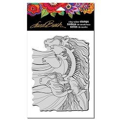 Stampendous - Laurel Burch - Cling Rubber Stamp Wild Horses