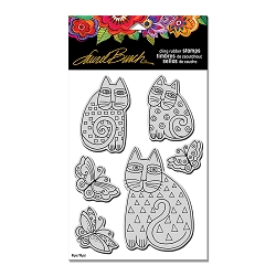 Stampendous - Laurel Burch Cling Indigo Cats Stamp Set