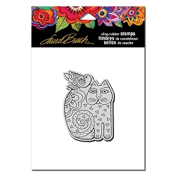 Stampendous - Laurel Burch - Cling Rubber Stamp Feline Friend