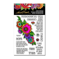 Stampendous - Laurel Burch - Floral Reflections Perfectly Clear Stamps Set