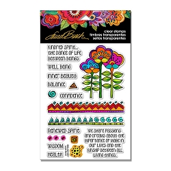 Stampendous - Laurel Burch - Kindred Borders Perfectly Clear Stamps Set