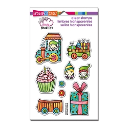 Stampendous Perfectly Clear Stamp - Pink Your Life Whisper Happy Wagon