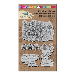 Stampendous - Cling Mounted Rubber Stamp - Andy Skinner Textures Stamp Set